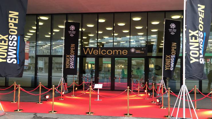 Der Eingang des Swiss Open.