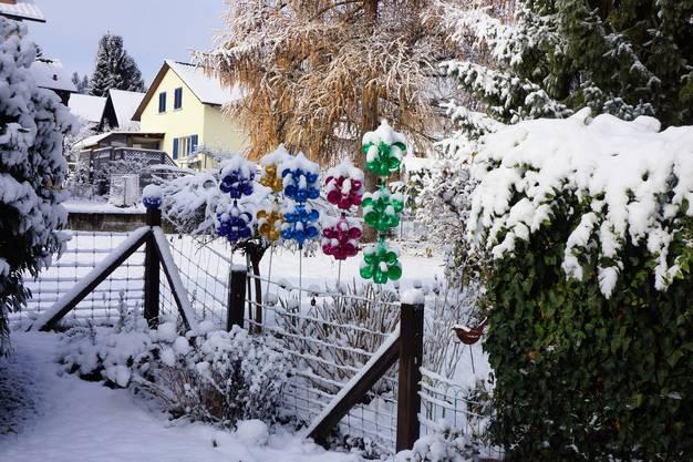 Der Schnee hat meine Windräder  lahmgelegt.