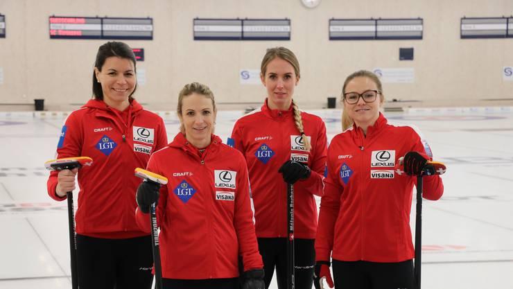 Auch nach dem Weltmeistertitel noch auf Erfolgskurs? Das Team Tirinzoni will in Schweden weiterhin überzeugen.
