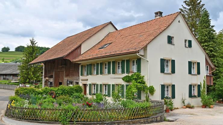 Der Hof wurde um 1840 erbaut und ist vom Typ her ein Baselbieter Dreisässen-Haus.