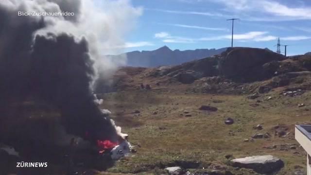 Zwei Tote bei Helikopter-Absturz