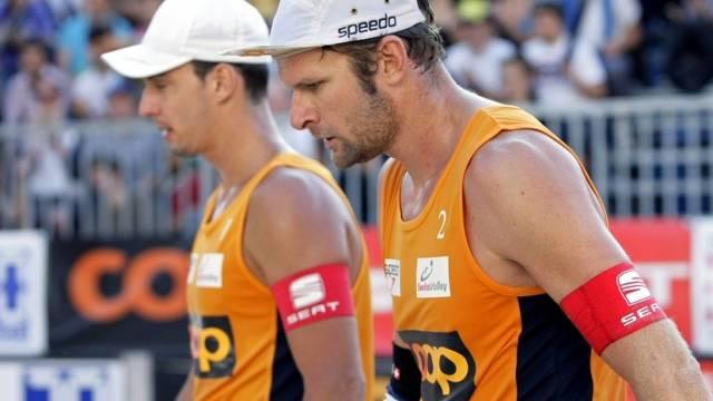 Bellaguarda (l.) und Martin Laciga in Polen auf verlorenem Posten