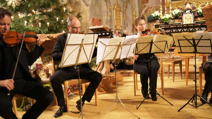 Jens Lohmann und Paul Scharf (von links) waren die Solisten bei den beiden Violinkonzerten von Johann Sebastian Bach