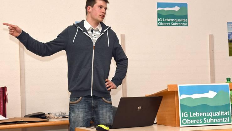 Jung und dynamisch: Elias Meier, oberster Windkraftgegner der Schweiz.