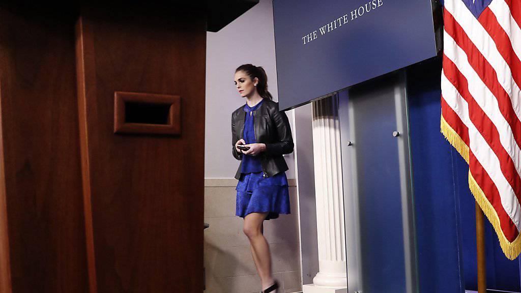 Meist hinter den Kulissen: Hope Hicks gehörte bereits zu den wichtigsten Personen in Trumps Medien-Team. Vorläufig hat sie nun gar den Posten der Kommunikationschefin inne.
