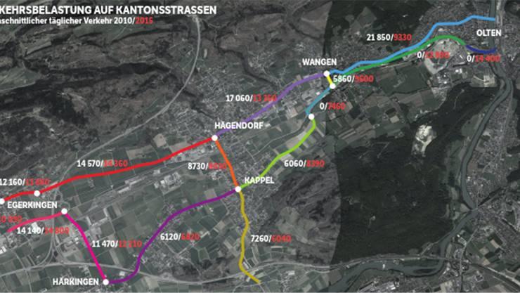 Verkehrsbelastung auf Kantonsstrassen