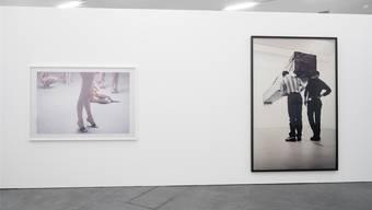 Statisten arbeiten für die Kunst: Bei Vanessa Beecroft sind es nackte Models, bei Santiago Sierra Asylsuchende. Lorenzo Pusterla / Migros Museum für Gegenwartskunst
