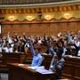 Die Jugendlichen sind sich einstimmig einig die Initiative «Ja zur einwegplastikfreien Schweiz» abzulehnen. Bild: Simon Kuhn