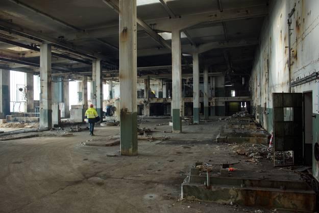Ausgeräumte Halle