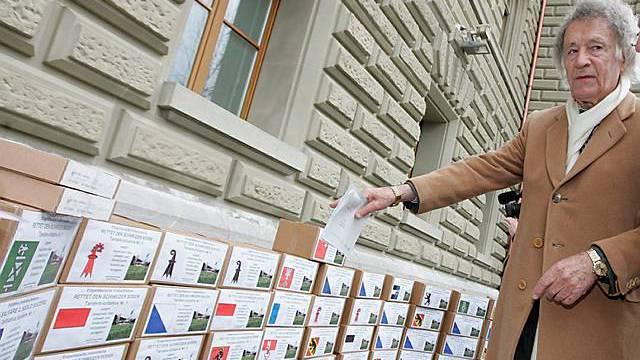 Umweltschützer Franz Weber reicht Initiative ein (Archiv)