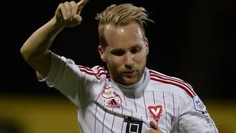 Markus Neumayr versenkte einen Penalty zur Vaduzer Siegsicherung