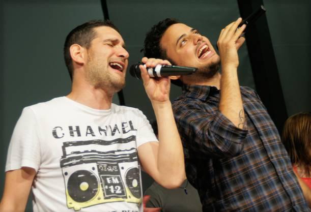 Sänger Nico aus Florenz und Daniele Saita (r.).