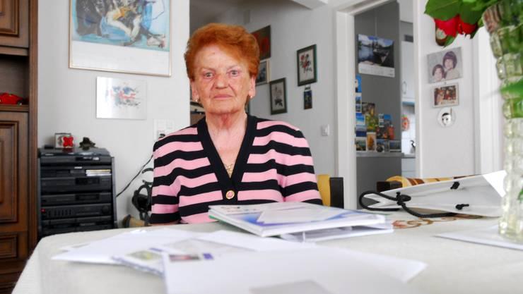 Anneliese D'Ippolito hat genug von den Anschuldigungen der Bieler Liegenschaftsverwaltung.  fup