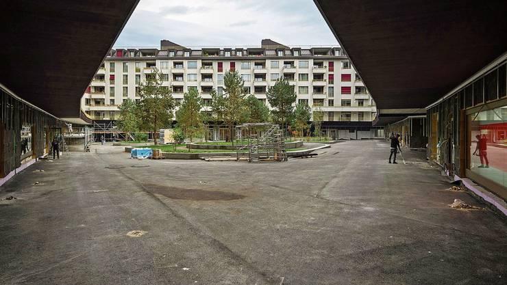 Die Überbauung «Himmelrich» in der Stadt Luzern. Bild: Philipp Schmidli (24. Oktober 2019)