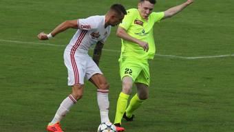 Leo Schrittwieser (r.) erzielte im ersten Testspiel des neuen Jahres den ersten Treffer für den FC Solothurn.
