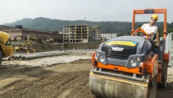 Unia blockierte am 5. Februar unter anderem die Baustelle Zollfreilager in Zürich.