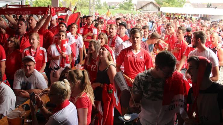 Im «Wave» in Muri fieberten die Fans von Anfang an mit und waren sich sicher, die Schweizer schlagen die Schweden. Leider wurde nichts daraus.