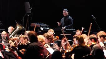 Carl Craig performt gemeinsam mit dem Sinfonieorchester Basel.