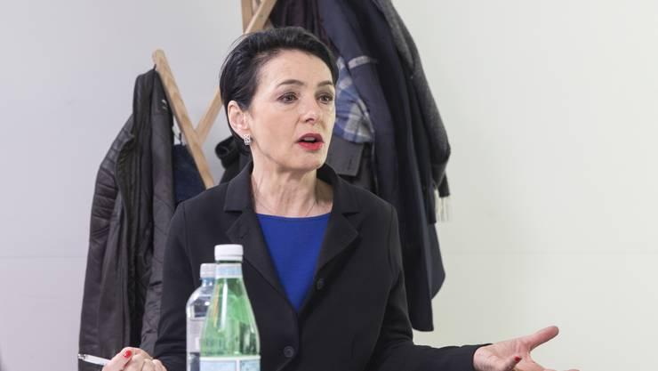 Streitgespräch zwischen Cédric Wermuth (SP), Thierry Burkard (FDP), Hansjörg Knecht (SVP) und Marianne Binder-Keller (CVP) aufgenommen am 19. März 2019 in der Räumlichkeiten der Welle 7 in Bern.