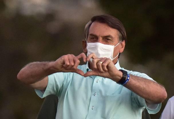 Bezeichnet das Coronavirus als «kleine Grippe»: Brasiliens Präsident Jair Bolsonaro. (Bild: Keystone)