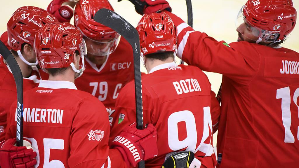Die Spieler des Lausanne HC dürfen weiter auf die Halbfinal-Qualifikation hoffen