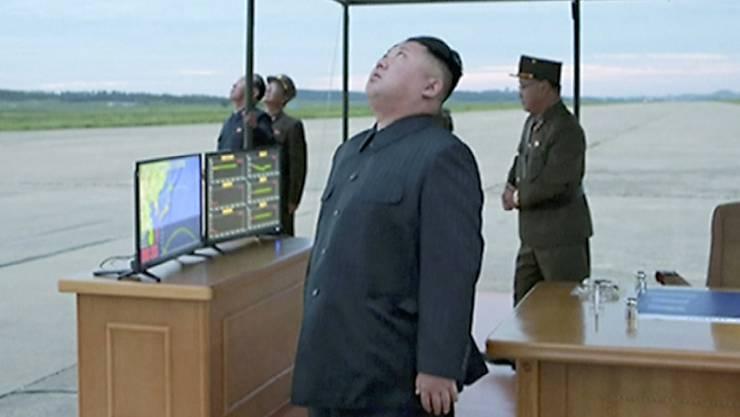 Ein Atombombentest könnte die Ursache des in Nordkorea gemessenen Erdbebens sein. (Archiv)