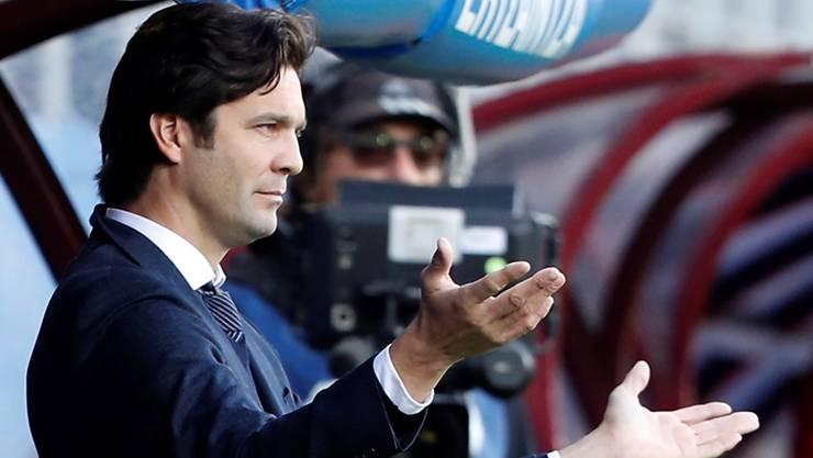 Santiago Solari versteht beim Spiel in Eibar die Welt nicht