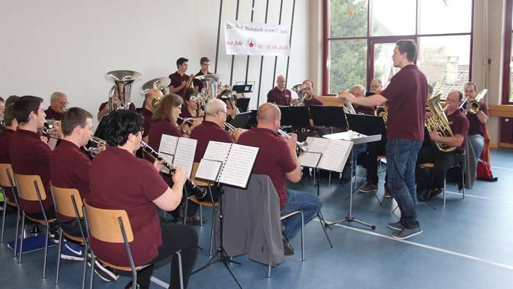 Spielte mit Freude am Neujahrsbrunch auf: die Musikgesellschaft Mandach.