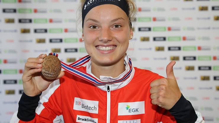Jubelt Simona Aebersold, die dieser Tage bei ihrer ersten Elite-WM gleich aufs Podest lief, auch in vier Jahren in Flims Laax?