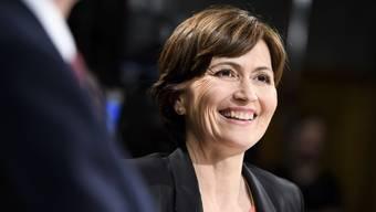 Hat gut lachen: Die Partei von Grüne-Präsidentin Regula Rytz gewinnt auf einen Schlag 16 Sitze im Nationalrat und kann die Fraktion so mehr als verdoppeln
