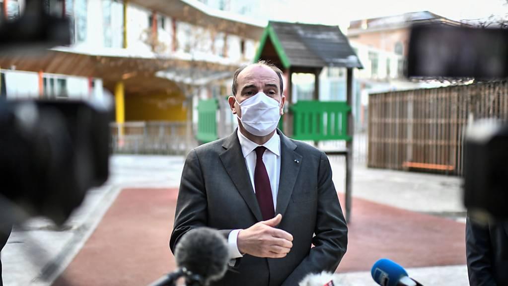 Der französische Premierminister, Jean Castex, will sich heute Donnerstag angesichts rasant steigender Neuinfektionen mit dem Coronavirus zu weiteren Massnahmen äussern. (Archivbild)