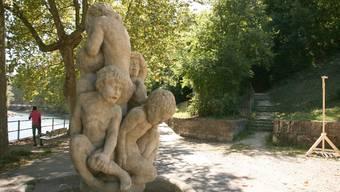 Das Tränenbrünneli in Baden: Trudels Brunnen war eine künstlerische Verarbeitung des sinnlosen Elends des Ersten Weltkriegs.