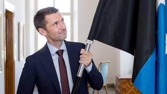 Peter Grünenfelder trägt mit Stolz die Aargauer Fahne und seit neustem auch einen durch Österreich verliehenen Orden.