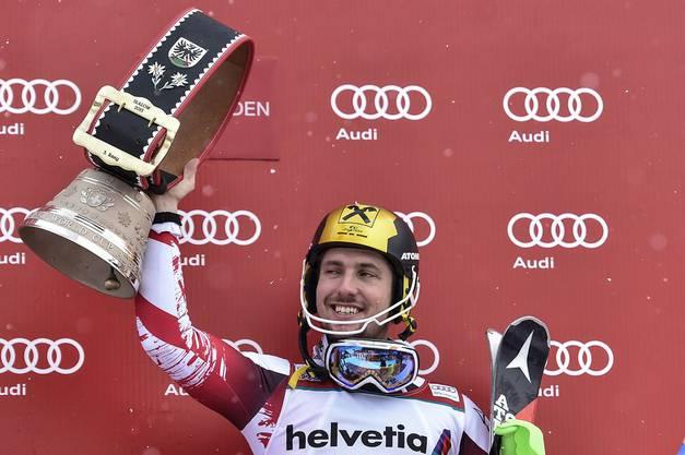 Auch Österreich war mit Marcel Hirscher noch auf dem Podest vertreten.