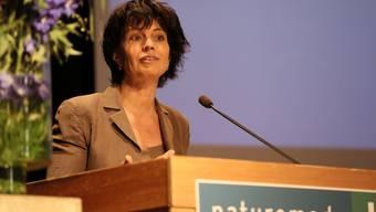 Firmen sollen auf Ökostrom wechseln: Bundesrätin Leuthard plädiert in Solothurn für die Energiewende.