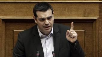 Der griechische Ministerpräsident Tsipras im Parlament in Athen