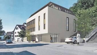 So soll das Gemeindehaus nach der Sanierung und Aufstockung aussehen.