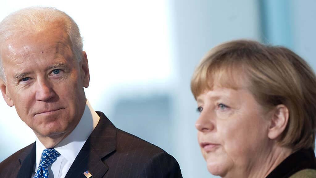 Ukraine-Konflikt: Merkel und Biden unterstützen Forderungen an Putin