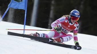 Mikaela Shiffrin unterwegs zu ihrem zweiten Sieg in einem Riesenslalom.