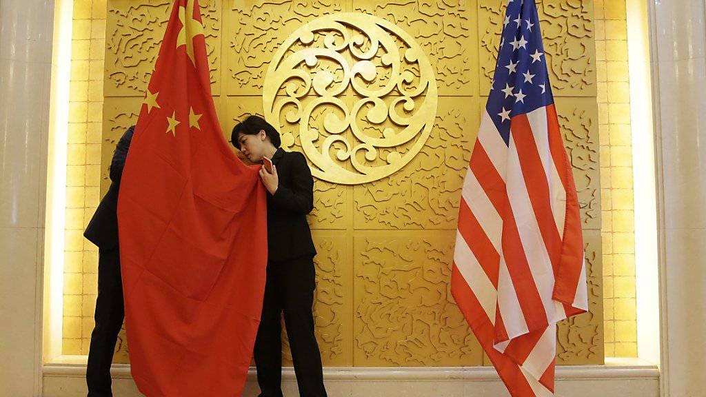 Weitere Spannungen zwischen USA und China: Die Vereinigten Staaten haben einen ehemaligen Geheimdienstoffizier verhaftet und der Spionage für China verdächtigt. (Symbolbild)