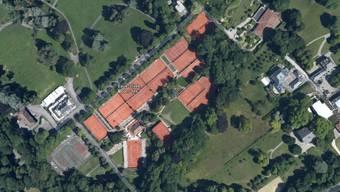 Hier beim Tennisklub Genf Eaux-Vives wird das ATP-Turnier ausgetragen.