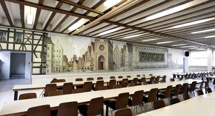 Hier wird gegessen: Der Speisesaal der JVA Landsberg.