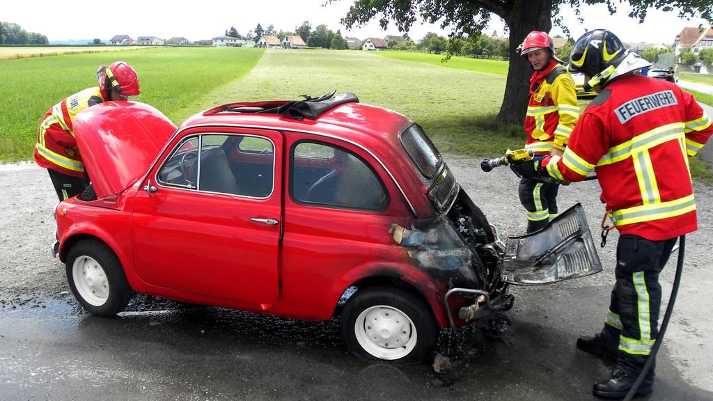 Plötzlich steht das Auto in Flammen