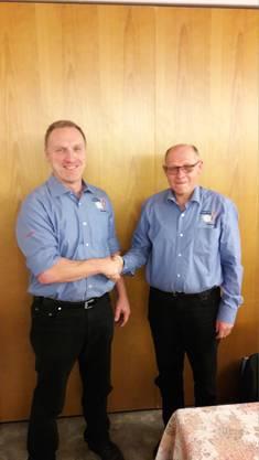 Präsident Daniel Büttler und Ehrenpräsident Martin Schacher