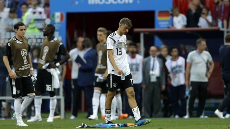 Deutschland, mit Thomas Müller, startete mit einer Niederlage gegen Mexiko ins Turnier.