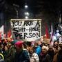 Vereint im Hass auf Trump: Demonstranten an einer Anti-WEF-Demo (2018).