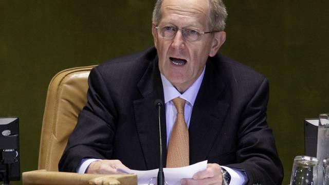 Alt Bundesrat Joseph Deiss appellierte zum Abschluss der Vollversammlung an die 192 UNO-Mitgliedstaaten