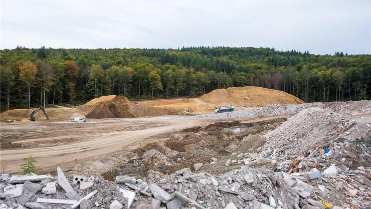 Spätestens Anfang 2022 ist die Deponie Höli in Liestal voll. Dann beginnt das Warten auf «Höli plus». (Archivbild)