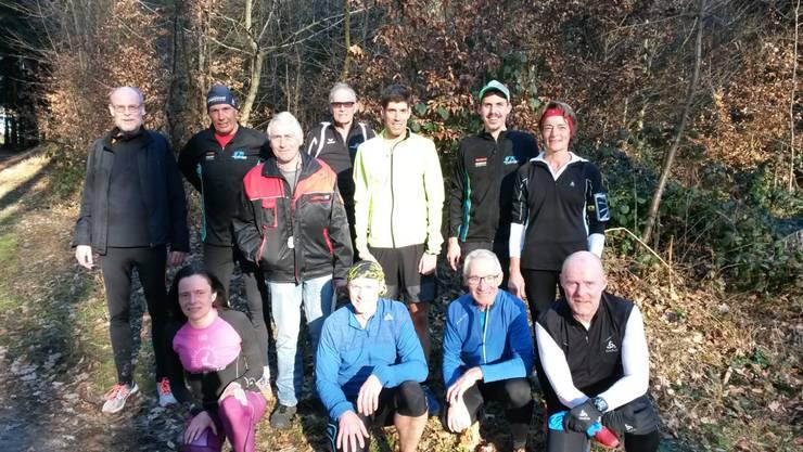 Teilnehmer am 1. Vereinslauf der LVF im Maiholzwald
