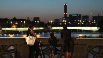 Blick auf den Rhein in Basel am 31. Juli 2020: Ein ruhiger Abend nach abgesagter Bundesfeier.